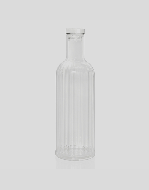 striped acrylic bottle 1l
