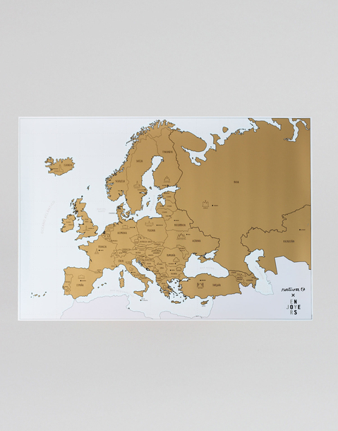 european monuments scratch map