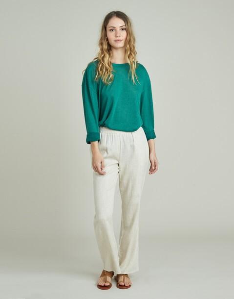 pantalón ancho goma cintura