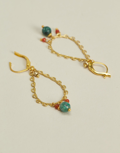 oval looped earring