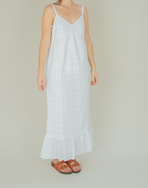 checkered lining cotton dress