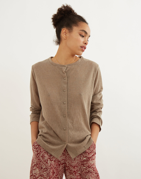 light button-front  cardigan