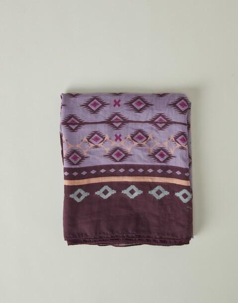 aztec diamond print scarf
