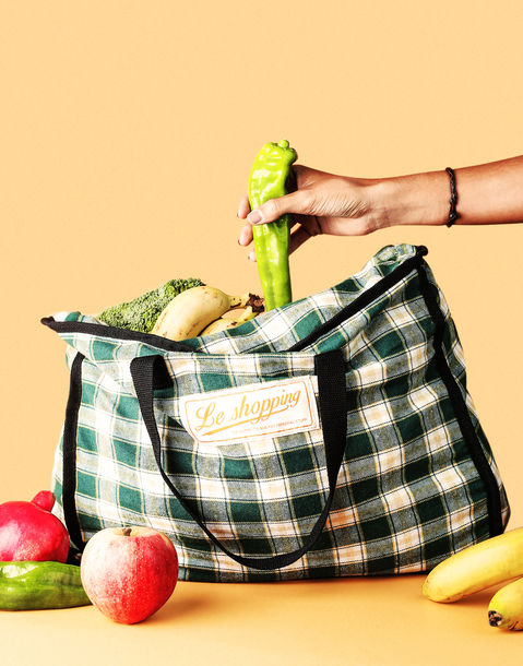 """le shopping"" shopping bag"