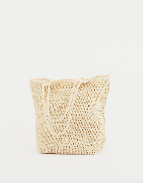 braided tote bag
