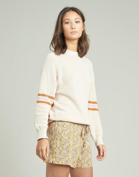 maglione righe sulle maniche e sul bordo