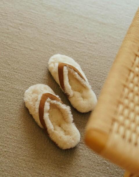 wool flip flop slipper