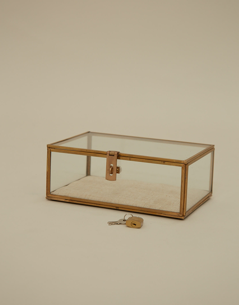 small glass jewelry box