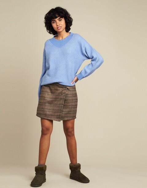 cross plaid skirt
