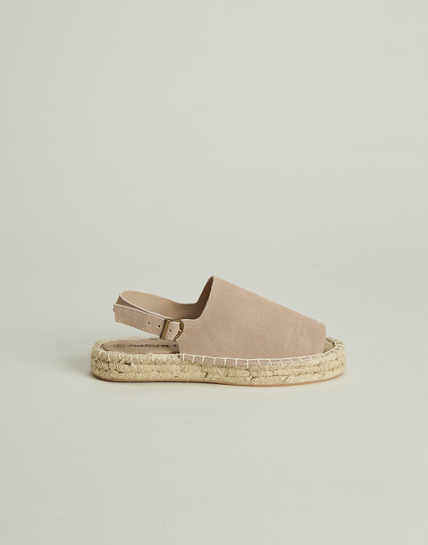 leather espadrille with buckle