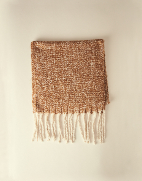 2 tones twill thick scarf