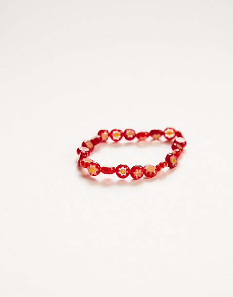 bracelet verre marguerites
