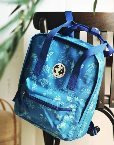 hawai print backpack