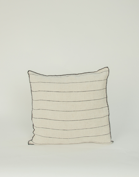 linen striped squared cushion cover