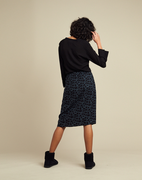BUTTON-DOWN MIDI SKIRT