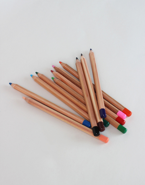 set 12 large color pencils