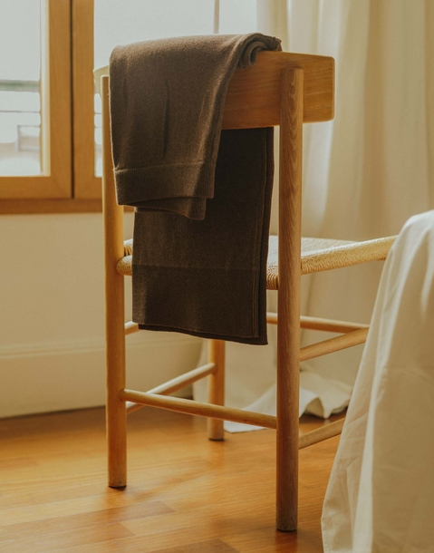 pantaloni larghi tricot organico