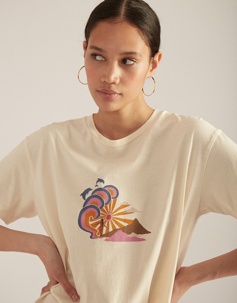 maglietta organica delfino