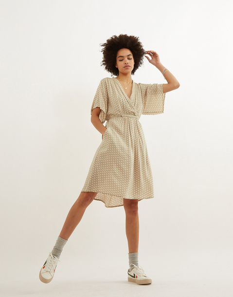 short wrap dress