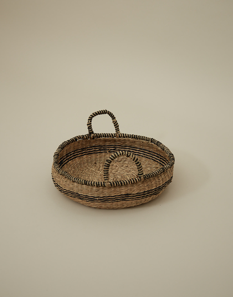 small striped basket