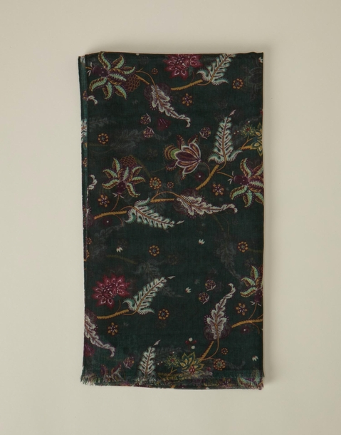 flowers and leaves scarf