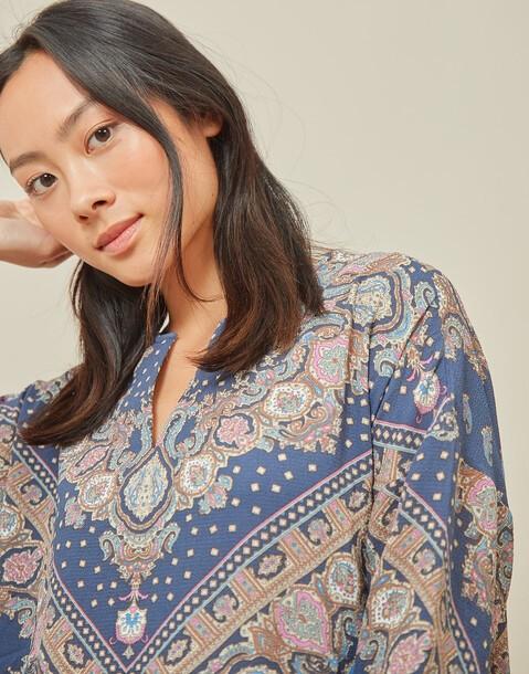 bluse mit cashmere-print