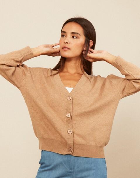 cardigan jersey coton biologique