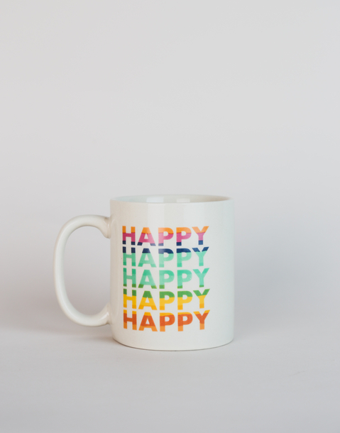 happy rainbow mug