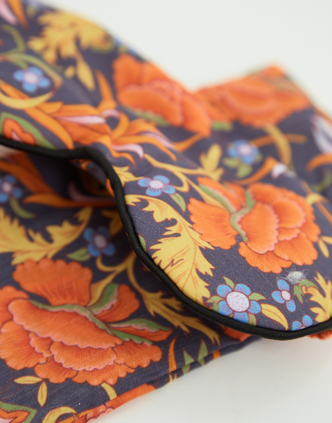 floral eye mask with bag
