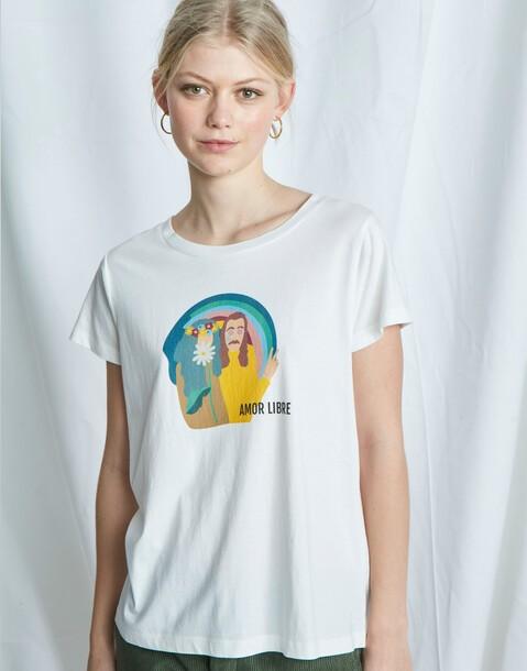 t-shirt bio amor libre