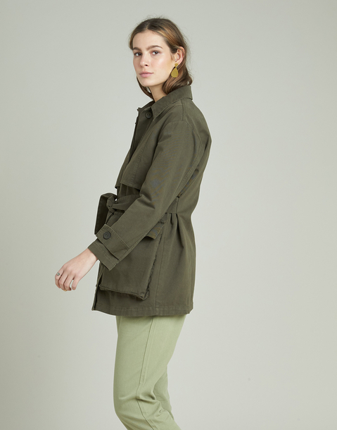 canvas jacket with belt