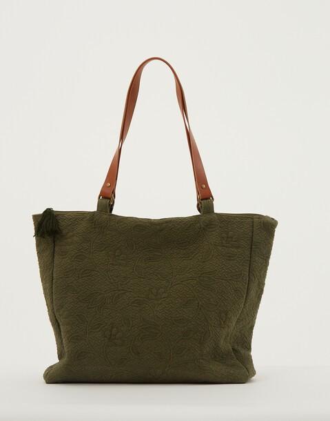 sac jacquard avec fermeture éclair