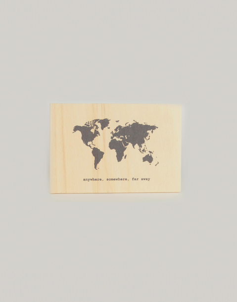 natura wooden postcards