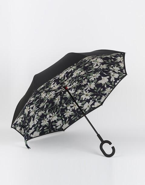 flowers inverted umbrella