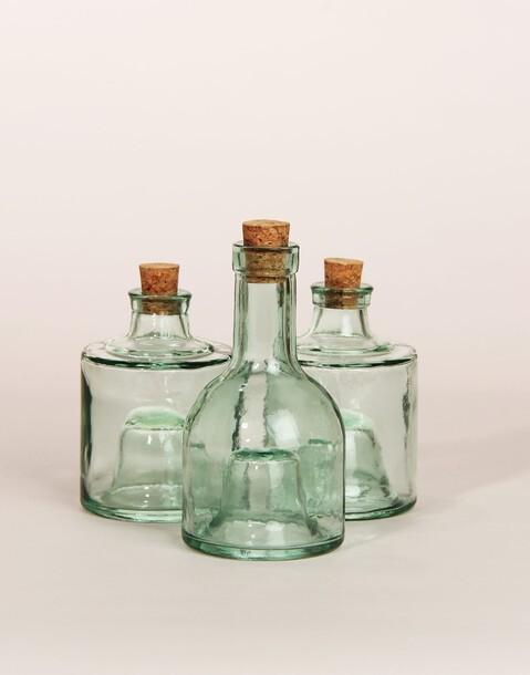 bouteille d'huile verre recyclé