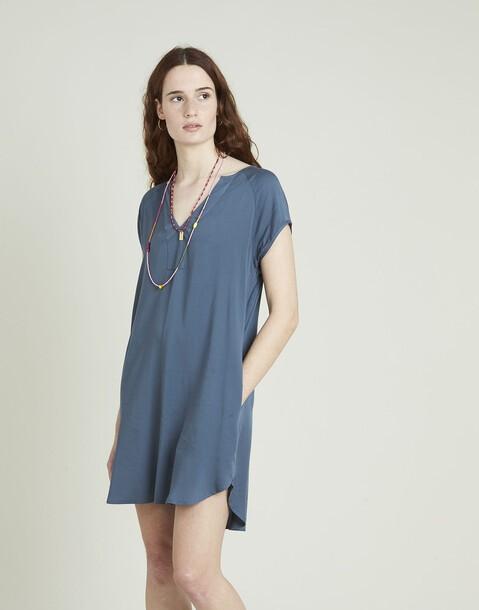 vestido corto viscosa