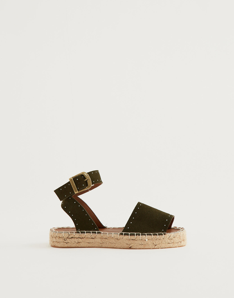 leather espadrille
