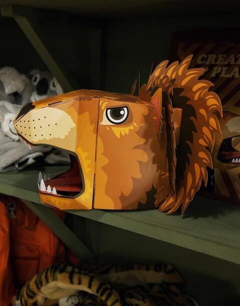 testa leone cartone