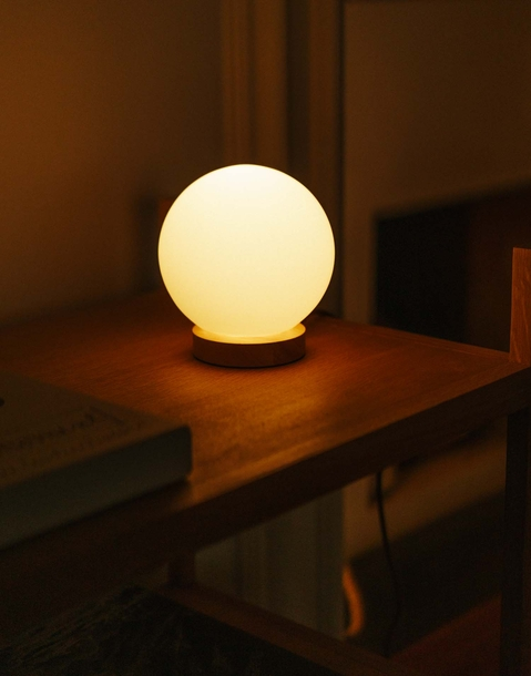 lampada sfera vetro