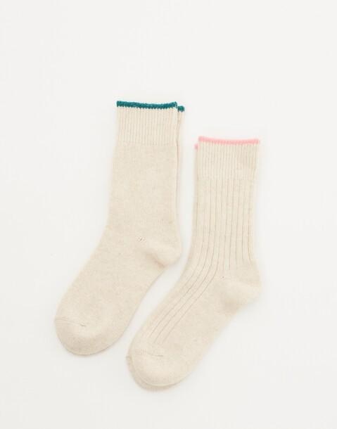 2-pack ribbed socks
