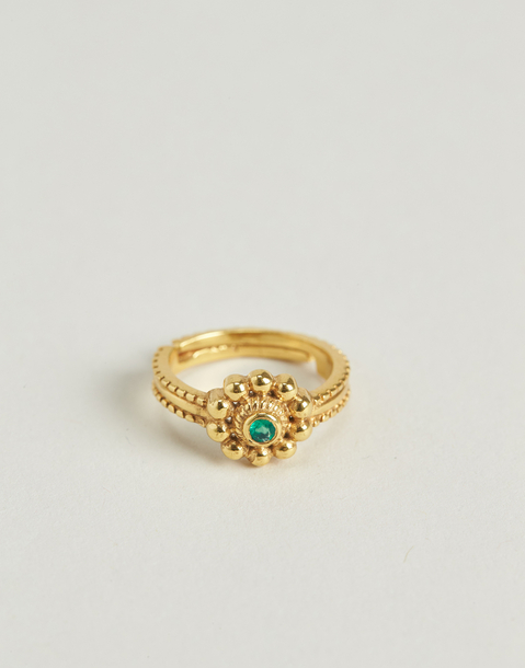 gilded indian flower ring