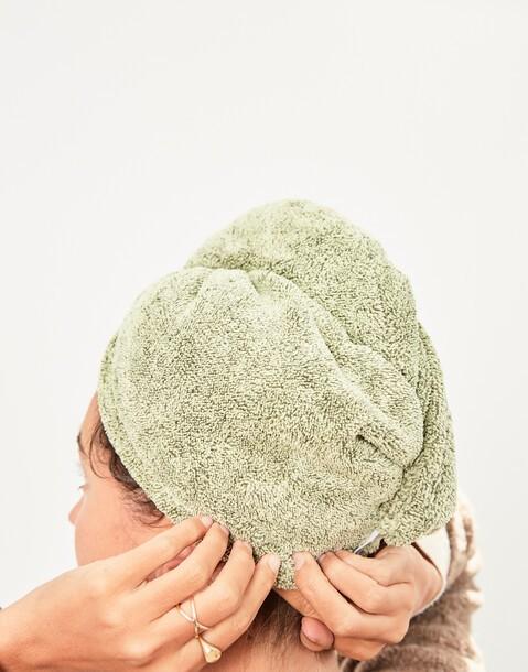 toalla para pelo de bambú