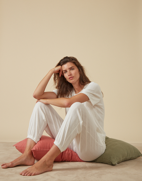 set pigiama tessuto traforato