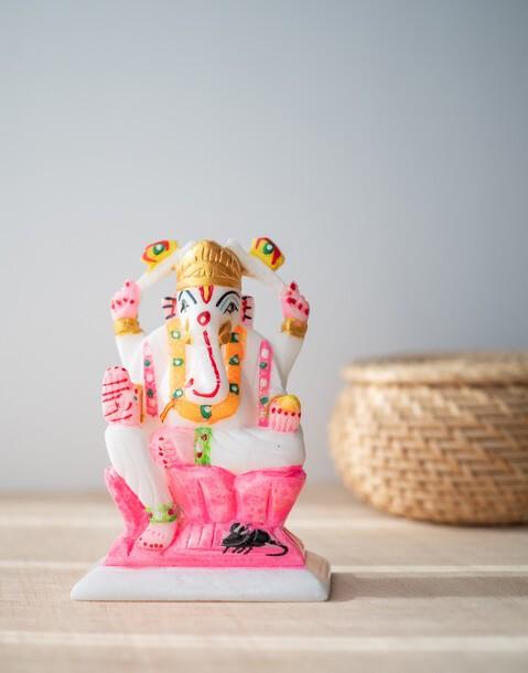 marble ganesha figurine