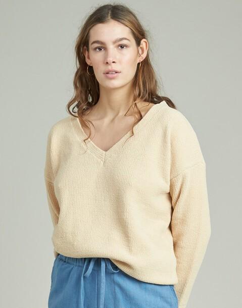 maglione ciniglia a v
