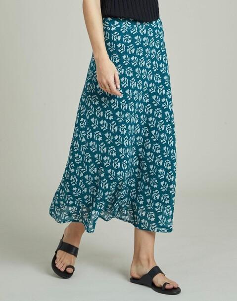 georgette stamp print skirt