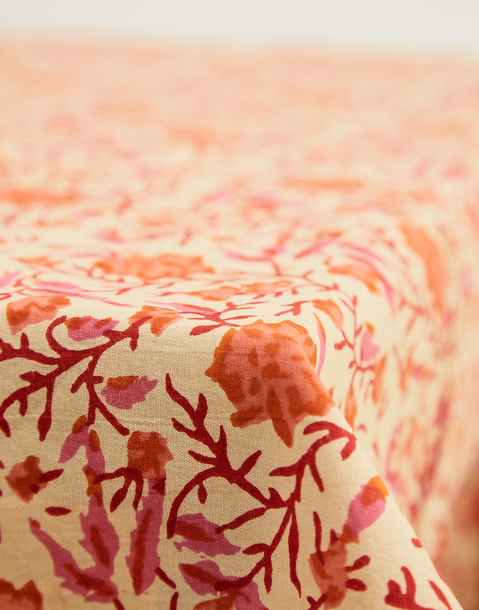 block print tablecloth 150x150