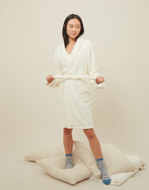 unisex  fleece dressing gown