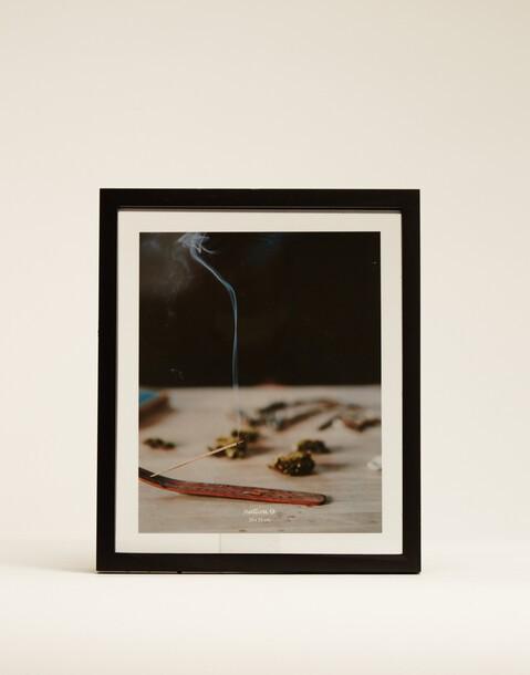 cadre en bois et en verre, noir 20x25
