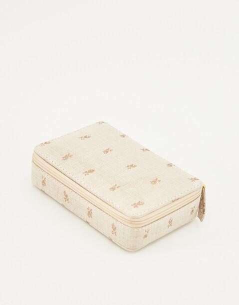 block print cotton jewellery box